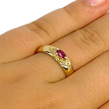 7756c9a9ad4 Anel em ouro 18k com rubi e diamantes - 2ABR0002 Rubi na Lorenzo Jóias