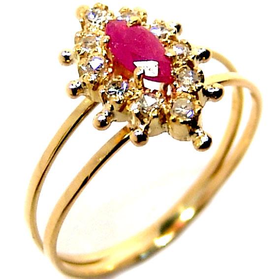 50f9e82334d Anel chuveiro de ouro 18k com diamantes e rubi - 2ABR0014 Rubi na ...