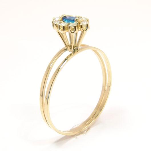 69ea1cab07a40 Anel em ouro 18k com diamantes e safira - 2ABS0026 Safira na Lorenzo ...
