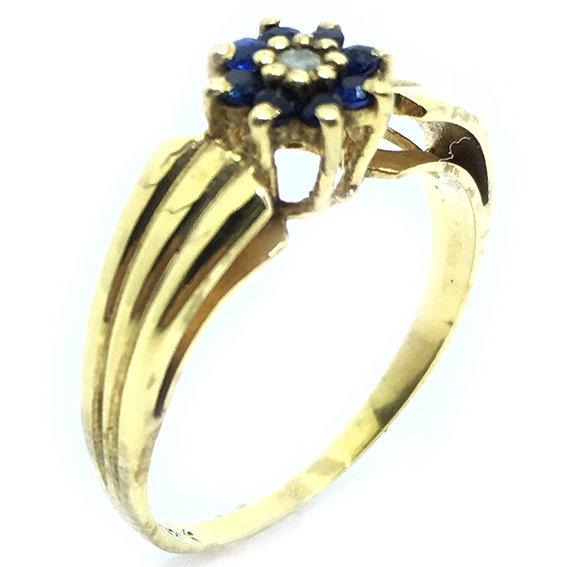 d21d147133c75 Anel em ouro 18k com diamantes e safira - 2ABS0031 Safira na Lorenzo ...