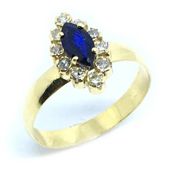 acb1c6e9f017e Anel chuveiro de ouro 18k com diamantes e safira - 2ABS0049 Safira ...