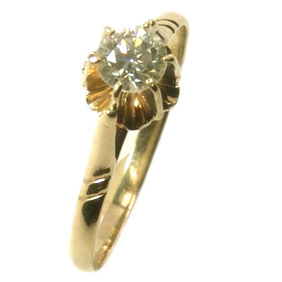 Solitário em amarelo ouro 18k - Garra espelho Diamante na Lorenzo Jóias cd5e2f72a1