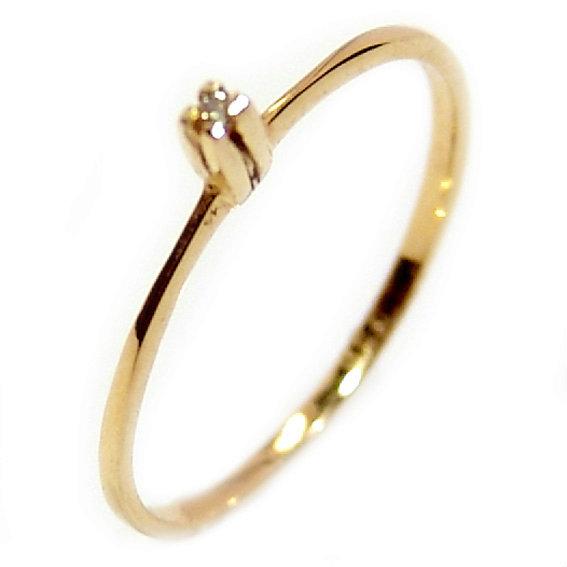 1d8baea7c Anel Solitário em ouro amarelo 18k - 2ANB0361 Diamante na Lorenzo Jóias