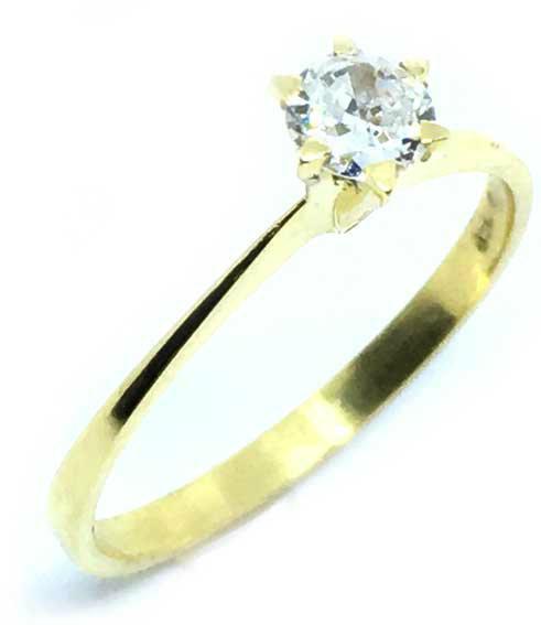 0f79d1466 Anel Solitário em ouro amarelo 18k - 2ANB0390 Diamante na Lorenzo Jóias