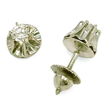 Brinco solitário em ouro branco 18k feminino Diamante na Lorenzo Jóias da2c11dd0e