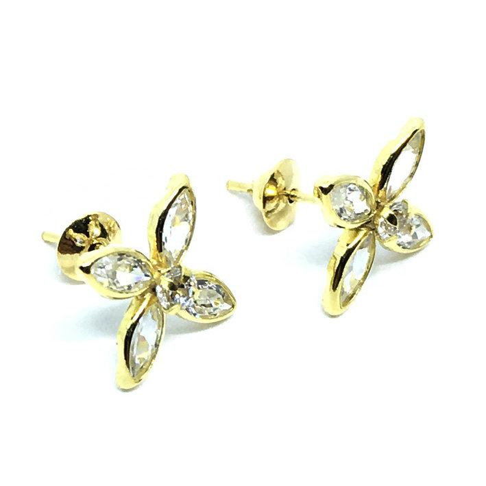 6de2ae13b7048 Brinco em ouro amarelo 18k feminino com zirconia - 2BRZ0222 Zirconia ...