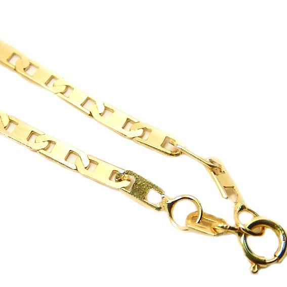 49fb9fbcde3 Corrente de ouro amarelo 18k - Cadeado Achatado - Masculina - 70 cm ...