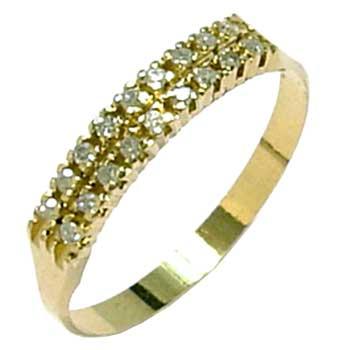 Meia aliança de brilhantes em ouro 18k Diamante na Lorenzo Jóias 027da7093f