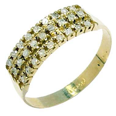 Meia aliança de diamantes em ouro amarelo 18k - 2MAB0030 Diamante na ... 6ddd4d492e