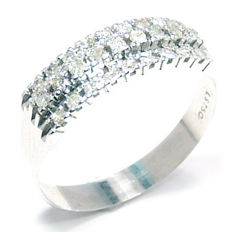 b2d0ca45b96b2 Meia aliança de diamantes em ouro branco 18k Diamante na Lorenzo Jóias