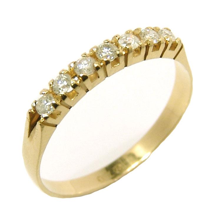 7e0040d367ae7 Meia aliança de brilhantes em ouro 18k Diamante na Lorenzo Jóias