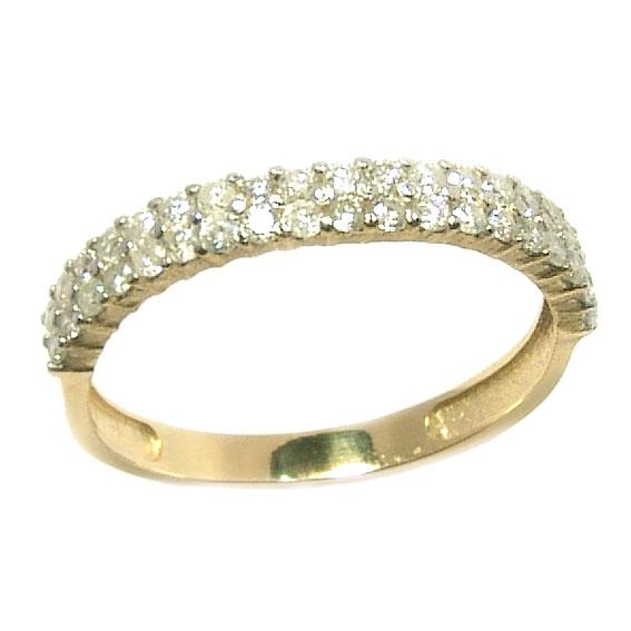 Meia aliança de brilhantes em ouro 18k Diamante na Lorenzo Jóias efac56f2e4