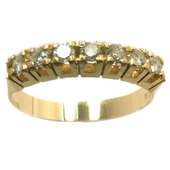 Meia aliança de brilhantes em ouro amarelo 18k Diamante na Lorenzo Jóias 8a980eaa8a