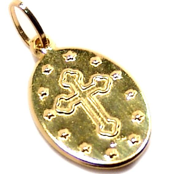 56d19337f650d Medalha de Nossa Senhora Aparecida em ouro 18k Ouro Amarelo na ...