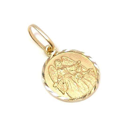 Medalha de Anjo da Guarda em ouro 18k Ouro Amarelo na Lorenzo Jóias 96d4f9d508
