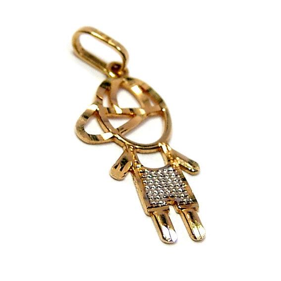 Pingente em ouro amarelo 18k - Boneco Ouro Amarelo na Lorenzo Jóias feb0ad6eab