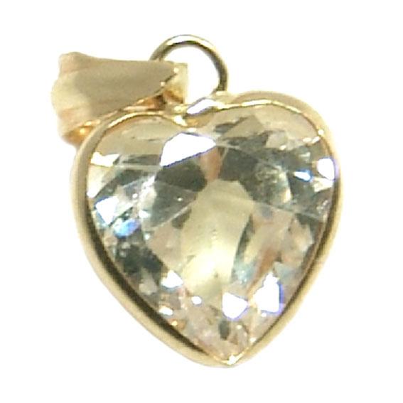 d1337a7920b3b Pingente em ouro 18k com zirconia - Coração Zirconia na Lorenzo Jóias
