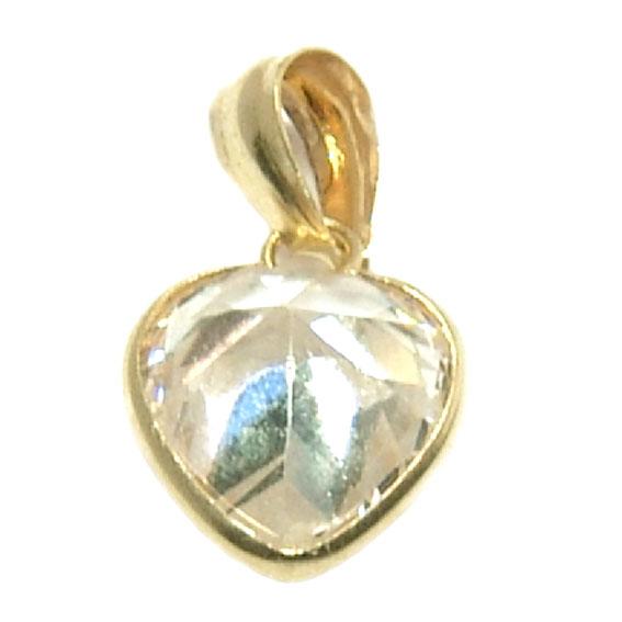 cb4d113d7b82f Pingente em ouro 18k com zirconia - Coração