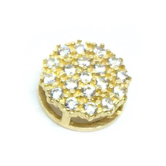 9ca45385ba900 Pingente em ouro 18k com zirconias - 2PIZ0036 Zirconia na Lorenzo Jóias