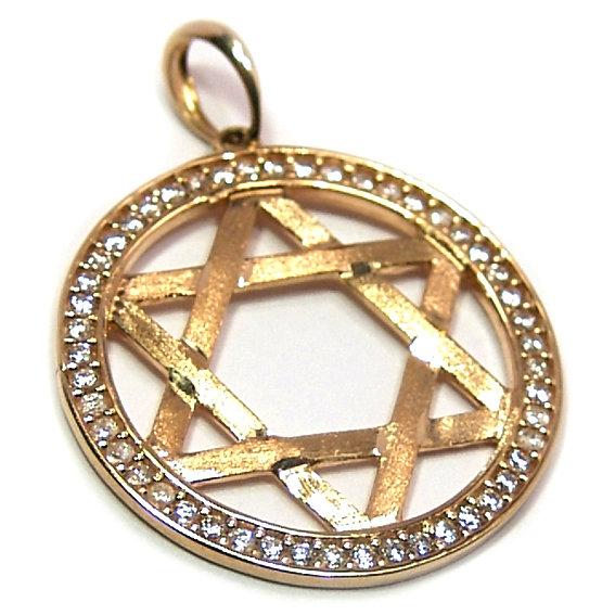 97b669372fb5f Pingente em ouro 18k com zirconia - Estrela de Davi Zirconia na ...