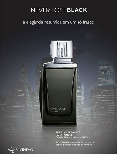 Perfume Never Lost Black Masculino