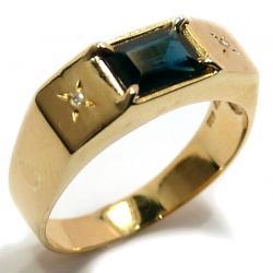 faa6d2a6be8eb Anel em ouro 18k com diamantes e safira - 2ABS0044 Safira na Lorenzo ...