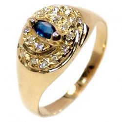 be90e150fb817 Anel em ouro 18k com diamantes e safira - 2ABS0062 Safira na Lorenzo ...