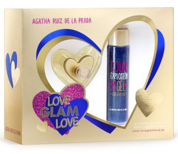 Coffret Love Glam Love Feminino EDT 80ml + Color Shower Gel 100ml