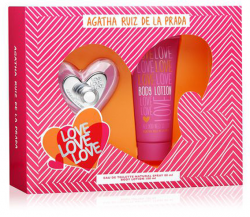 Coffret Love Love Love Feminino EDT 80ml + Body Lotion 100ml