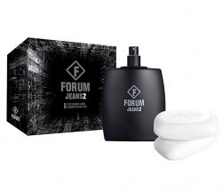 Kit Forum Jeans 2 Unissex Deo Colônia 100ml + 2 Sabonetes 90g