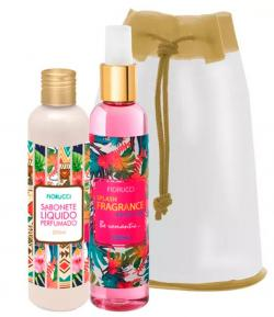 Kit Fiorucci Splash Fragrance Exotic Chic Deo Colônia 200ml + Sabonete Líquido 200ml