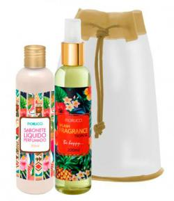 Kit Fiorucci Splash Fragrance Tropical Deo Colônia 200ml + Sabonete Líquido 200ml