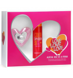 Coffret Love Love Love Feminino EDT 80ml + Shower Gel 100ml
